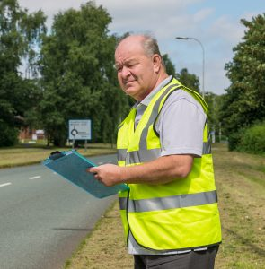 Graham Feest conducting a Traffic Survey